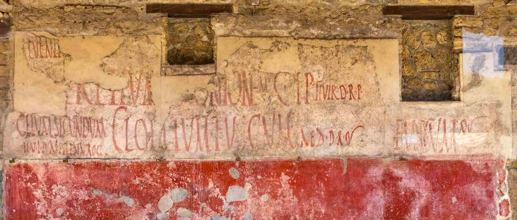 What was the Graffiti of Pompeii?