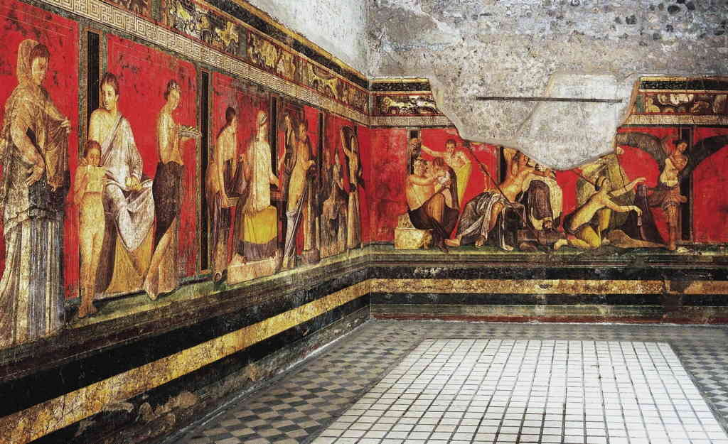 How did the ancient Pompeii Decorate?