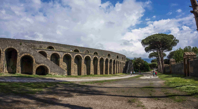 What events were held in Pompeii's Amphitheatre?